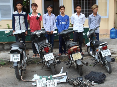 Băng trộm xe mô tô 9x sa lưới sau khi thực hiện trót lọt nhiều vụ