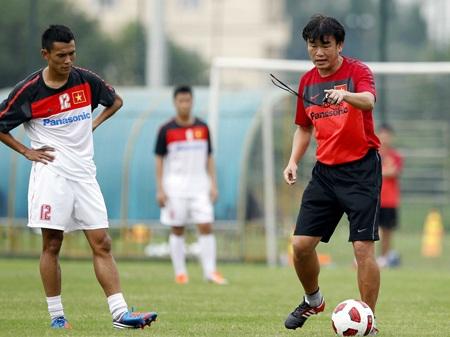 Thầy trò HLV Phan Thanh Hùng khởi đầu chu kỳ chuẩn bị cho AFF Cup rất thuận lơi (Ảnh: Gia Hưng)