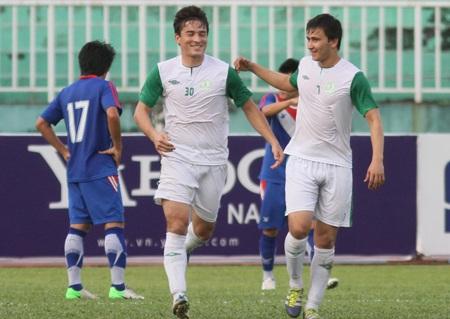 Turkmenistan kết thúc VFF Cup với 2 chiến thắng/3 trận thi đấu (Ảnh: Sơn Dũng)
