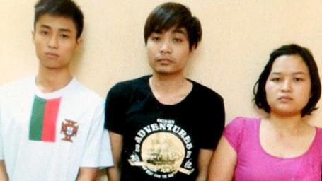 Ba đối tượng bị cảnh sát bắt giữ.