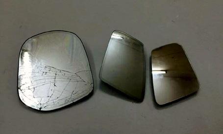 3 chiếc gương ô tô hạng sang Cương mới trộm được.