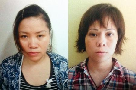 Hai đối tượng mua bán trẻ em bị bắt giữ.