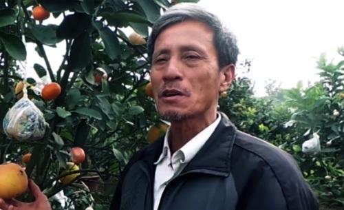 Lão nông dân tài hoa Lê Đức Giáp bên vườn cây cảnh lạ mắt