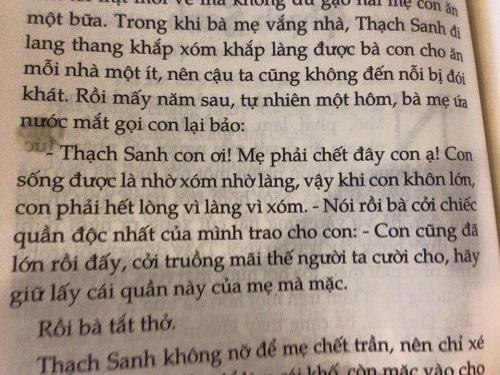 Đoạn trích Thạch Sanh được mẹ nhường khố