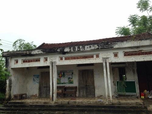 Điểm trường mầm non An Duyệt được cải tạo lại thành lớp học từ đình làng