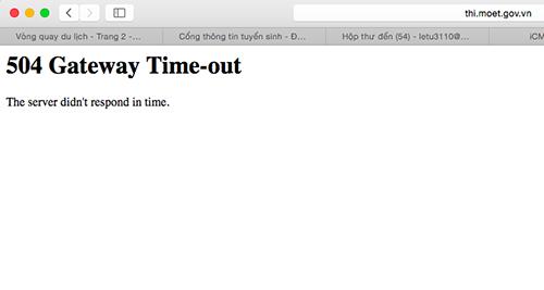 Đến khoảng 14h50 thì trang web xem điểm thi báo lỗi khi truy cập