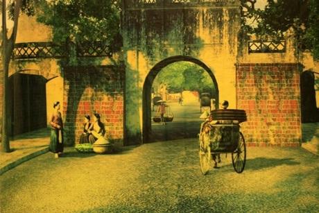 Hình ảnh cửa ô Hà Nội thủa trước.