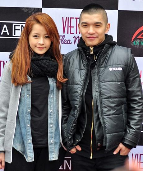 Cặp đôi Chi Pu, Cường Seven tay trong tay đến dự ngày hội giới trẻ