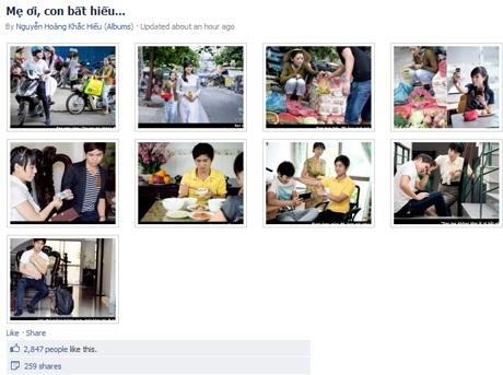 Bộ ảnh được gần 3.000 người yêu thích sauít giờ đăng tải.
