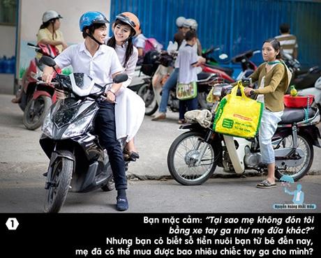 Câu chuyện thứ nhất: Tại sao mẹ không đón tôi bằng xe tay ga như mẹ đứa khác?