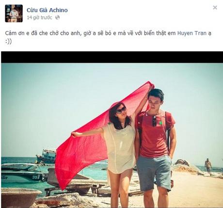 Quán quân facelook Ngọc Chiến khoe ảnh trên facebook.