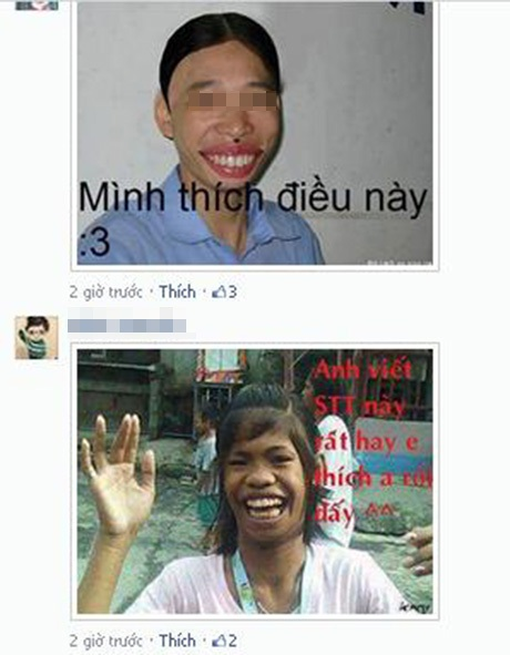 Trò đùa dùng ảnh chế bình luận trên Facebook