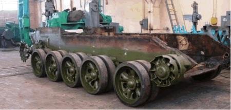 Để chế tạo xe BMPT-K-64 quy trình thực hiện tương tự như chế tạo, nâng cấp lại xe T-55.