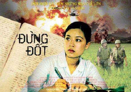 Poster phim Đừng đốt - một trong những tác phẩm điện ảnh thành công của đạo diễn Đặng Nhật Minh.