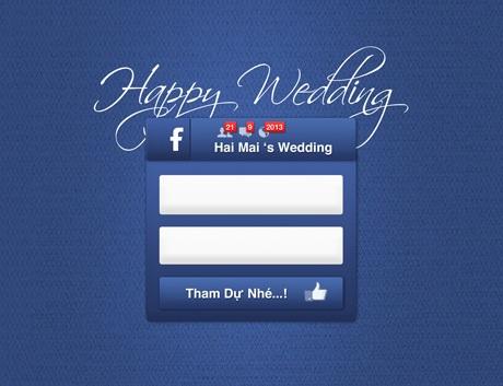 Ngày cưới được hiển thị khá ấn tượng