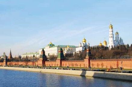 Khung cảnh rộng lớn của Điện Kremlin.