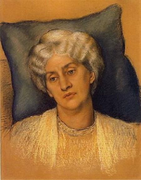 """Bức """"Jane Morris"""" (1904) của Evelyn De Morgan. Lúc này Jane đã là một bà lão."""