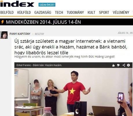 """Chàng trai 9X Việt bất ngờ khiến báo chí Hungary """"dậy sóng"""""""