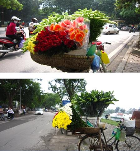 Những mẹt hoa loa kèn theo chân người bán hàng trên khắp các con phố Hà Nội…