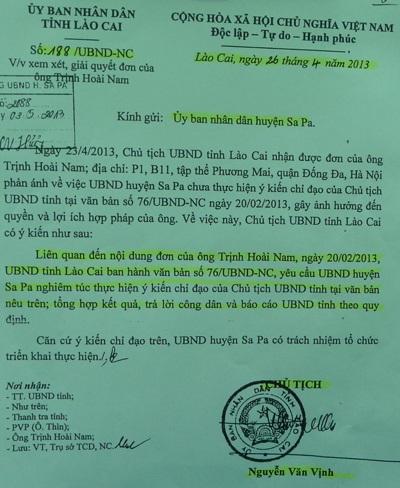 UBND huyện Sa Pavẫn bỏ ngoài tai ý kiến chỉ đạo của Chủ tịch tỉnh