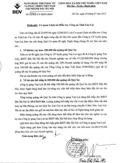 Chi cục THADS huyện An Dương đã không trích dẫn đầy đủ nội dung công văn 0746