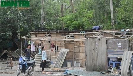 Những nhà tạm dựng trái phép bị dỡ bỏ