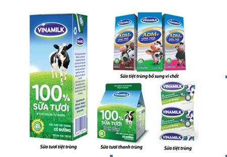 Các sản phẩm sữa nước của Vinamilk đáp ứng được nhu cầu dinh dưỡng đa dạng.
