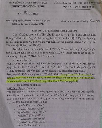 Văn bản đốc thúcthực hiệnchỉ đạo của UBND TP Hà Nội
