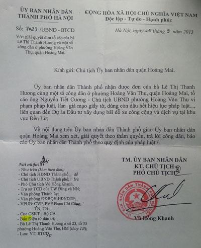Văn bản chỉ đạo của TP Hà Nội ban hành tháng 9/2013