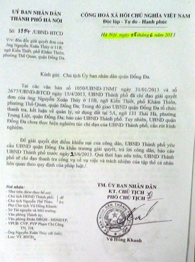 Khuyến cáo UBND TP Hà Nội đưa ra với quận Đống Đa