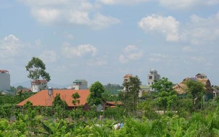 Các khu biệt thự sinh thái cao cấp nằm san sát trên đất V.A.C ở xã Thượng Mỗ