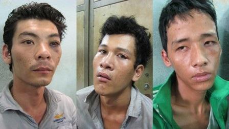 Các đối tượng trong băng nhóm cướp giật tại cơ quan công an