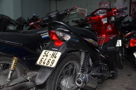 Chiếc xe gắn máy mà Phượng dùng để gây án