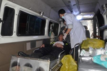 15 chiến sĩ đã bị bỏng do hóa chất
