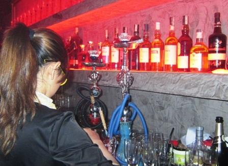 Phát hiện nhiều bình Shisha trong quán bar Sin Lounge