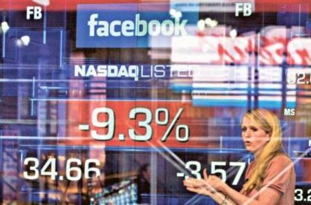 """Ngân hàng lớn của Mỹ """"mang vạ"""" vì cổ phiếu Facebook lao dốc"""