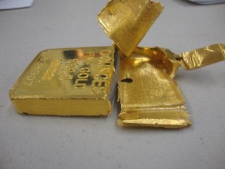 Thỏi vàng giả ông Ibrahim Fadl phát hiện tại tiệm