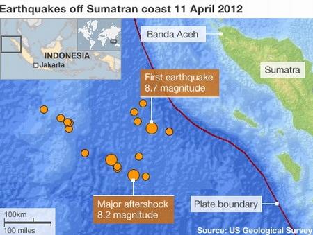 Trận động đất tại đảo Sumatra ngày 11/4