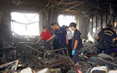 Hiện trường bệnh viện Beimen sau vụ hỏa hoạn