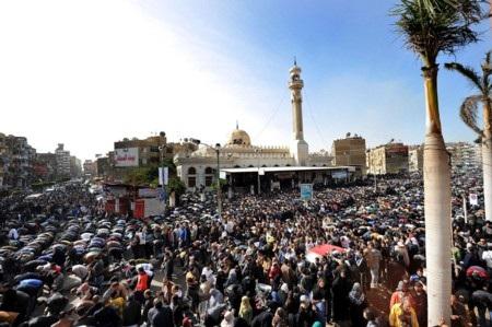 Hàng nghìn người Ai Cập xuống đường hôm 27/1 phản đối chính phủ