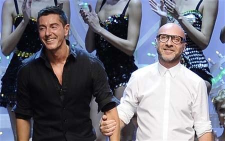 Tỷ phú Gabbana (trái) cùng cộng sự Gabbana