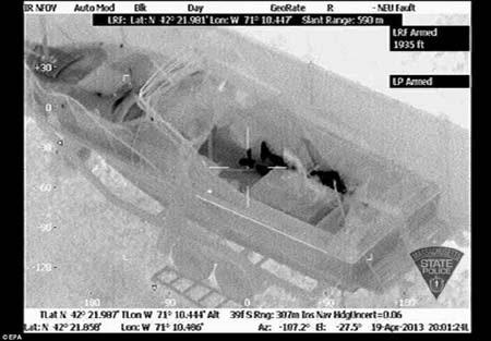Hình ảnh nghi phạm trên thiết bị phát hiện thân nhiệt