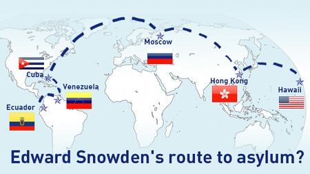Hành trình trốn chạy của Snowden