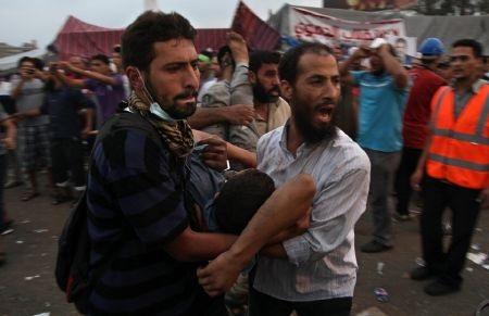 Đa phần người bị thương là những người ủng hộ ông Morsi