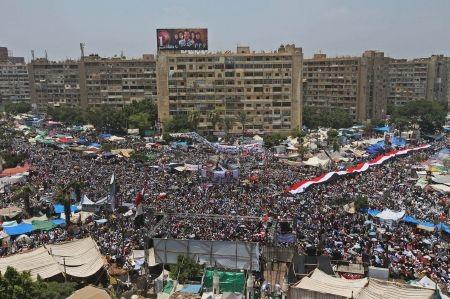 """""""Biển"""" người Hồi giáo tại Ai Cập tuần hành ủng hộ ông Morsi"""