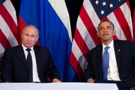 Tổng thống Nga Putin và Tổng thống Mỹ Obama tại hội nghị G-20 năm ngoái