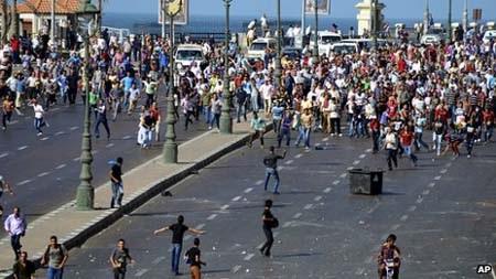 Biểu tình tại thành phố Alexandria