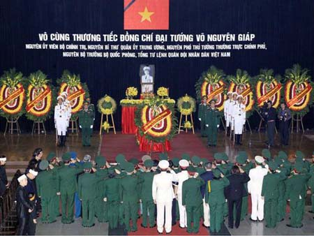 Thông tin lễ tang của Đại tướng Võ Nguyên Giáp được báo chí thế giới đăng tải đậm nét
