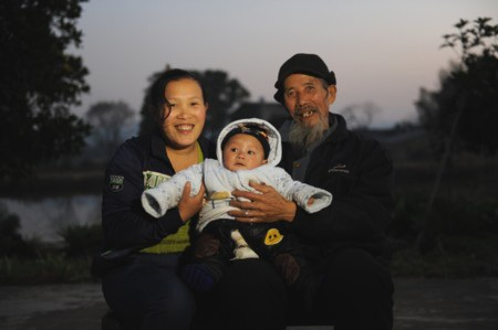 Cặp vợ chồng ông Wen Changlin và cô Zhang Feng