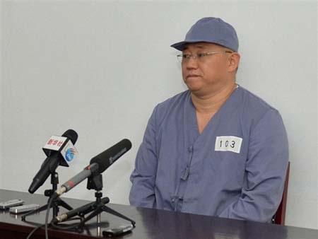 Ông Kenneth Bae trong một cuộc họp báo tại Triều Tiê